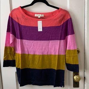 NWT Loft boatneck sweater